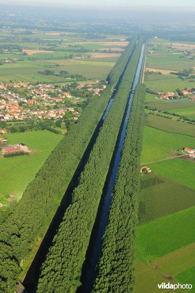 Het Schipdonkkanaal en het Leopoldkanaal